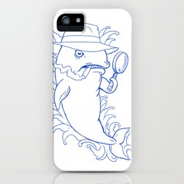 Detective Orca Killer Whale Drawing iPhone Case