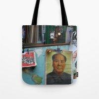 hong kong Tote Bags featuring hong kong by Teresa Gabry
