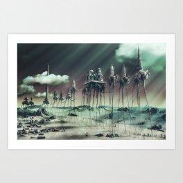-Caravan Dali- GREEN Art Print