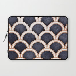 Textured Circles Pattern Laptop Sleeve