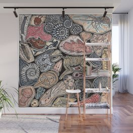 Fossils for history, dinosaur and archaeology lovers Wall Mural