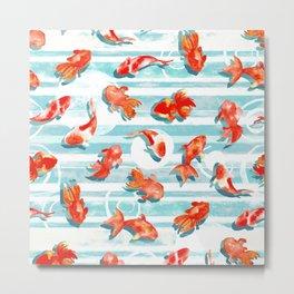 Watercolor Goldfish Metal Print