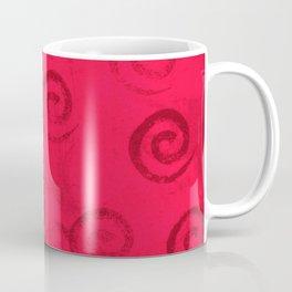 Festive Red Spirals Coffee Mug