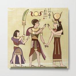 Calling to the Gods Egyptian Folk Art Metal Print