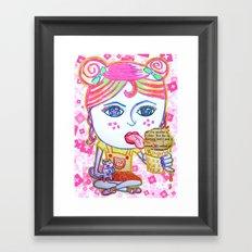 LeeLoo the Icecream Thief Framed Art Print