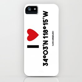 I LOVE LOS ANGELES iPhone Case