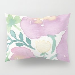 Pink and Green Pillow Sham