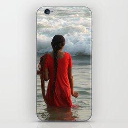 Indian Women in the Sea at Varkala iPhone Skin