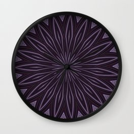 Eggplant and Aubergine Floral Design Wall Clock