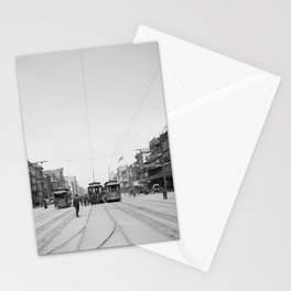 Vintage Canal Street New Orleans Streetcars 1907 Stationery Cards