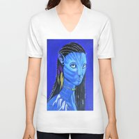 avatar V-neck T-shirts featuring Avatar by maggs326