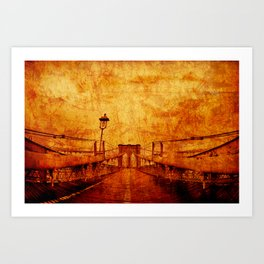 Brooklyn Burning Art Print