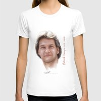 patrick T-shirts featuring Patrick Swayze by Tribute Portrait