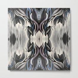 Moth Mirrored Metal Print