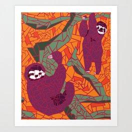 Sloth Mosaic Art Print