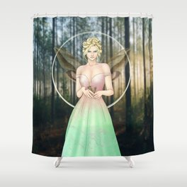 Spring Woodland Fairy Shower Curtain