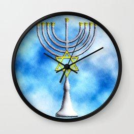 Menorah Wall Clock