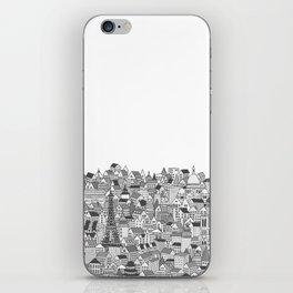 Paris (black and white version) iPhone Skin