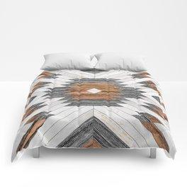 Urban Tribal Pattern No.8 - Aztec - Wood Comforters