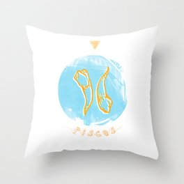 Pisces - Teeth Zodiac Throw Pillow