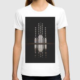 Islamic Architecture Inside Mausoleum Window Geometric Pattern Silhouette Mysterious T-shirt
