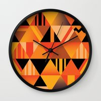 pumpkin Wall Clocks featuring pumpkin by Gray