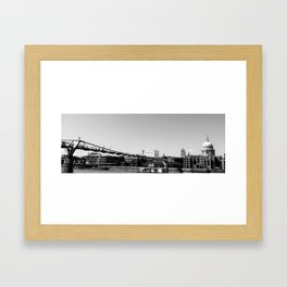 MILLENIUM BRIDGE LONDON UK Framed Art Print