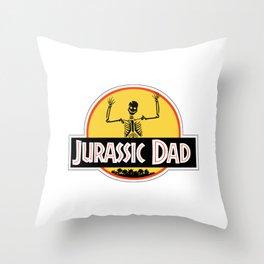 Jurassic Dad Dinosaur Skeleton Funny Birthday Gift 2 Throw Pillow