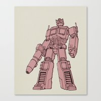 optimus prime Canvas Prints featuring Optimus Prime by Luke Spicer
