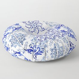 Azulejo VIII - Portuguese hand painted tiles Floor Pillow