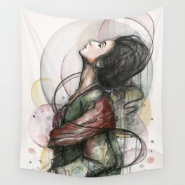 Beauty Illustration Beautiful Woman Feminine Portrait Wall Tapestry