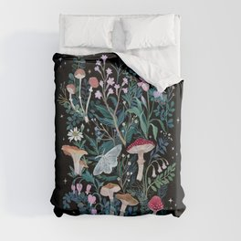 Night Mushrooms Duvet Cover