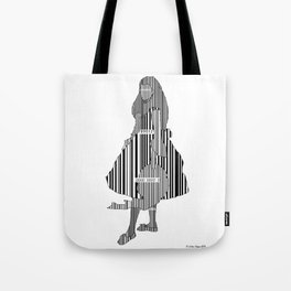 Whistler in Barcode, Harmony in Grey and Green Tote Bag