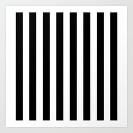 Classic Black and White Football / Soccer Referee Stripes Art Print