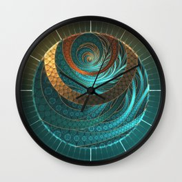 Beautiful Corded Leather Turquoise Fractal Bangles Wall Clock