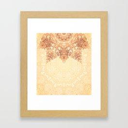 Elegance Ornate Mehndi Mandala v.3 Framed Art Print