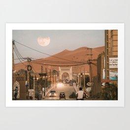 Merzouga Moonrise Art Print