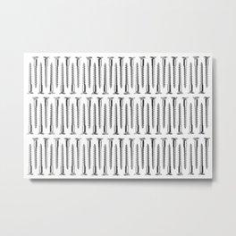 Silver Screws Background Metal Print