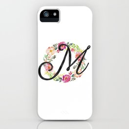 Floral M Monogram iPhone Case