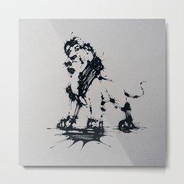 Splaaash Series - Animal King Ink Metal Print