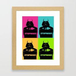 Stop wars (color variation) Framed Art Print