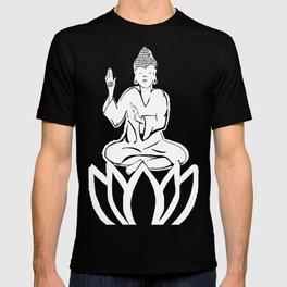 black and white buddha T-shirt