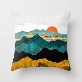 Turquoise Vista Throw Pillow