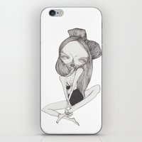 bow iPhone & iPod Skins featuring BOW by linnea lykke maria