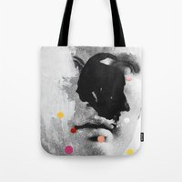 chad wys Tote Bags featuring Composition 476 by Chad Wys