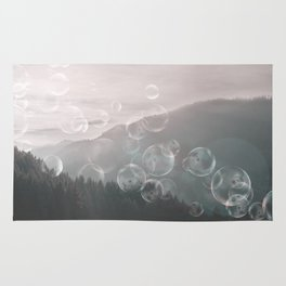 Dreamy Outdoor Mountain Landscape Rug
