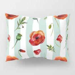 Poppy and Stripes Pillow Sham