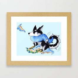 Wrapping Paper Pup Framed Art Print