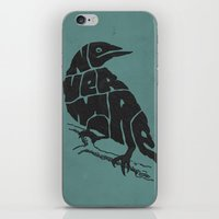 literary iPhone & iPod Skins featuring Quoth the raven by Literary Mint