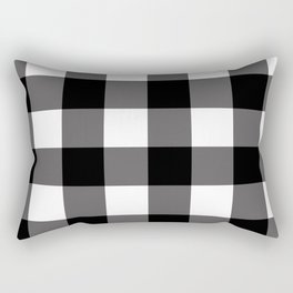 Black & White Buffalo Plaid Rectangular Pillow